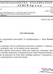 Przedsiębiorstwo wielobranżowe ALBUD Sp. z o.o.