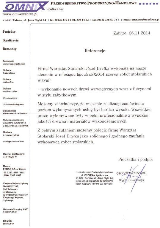 Przedsiębiorstwo Produkcyjno-Handlowe OMNIX Sp. z o.o.